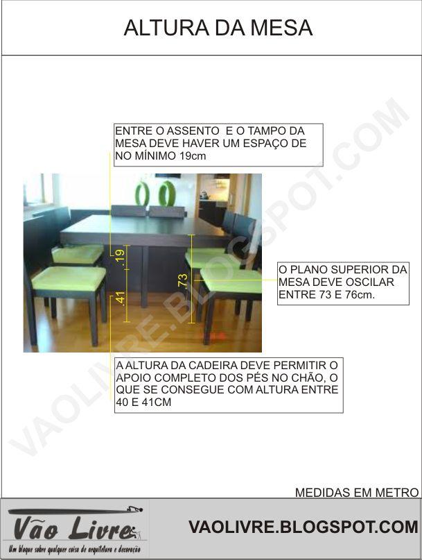 Armario Planejado De Vidro ~ altura ideal para mesa de jantar Pesquisa Google Ergonomia e Medidas u00dateis Pinterest