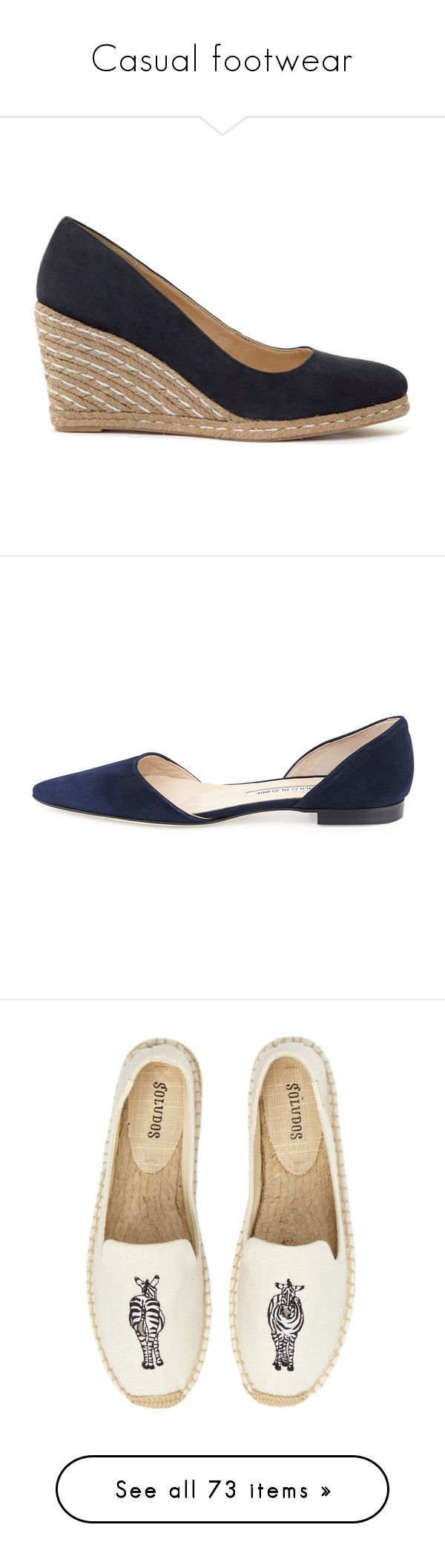 """""""Casual footwear"""" by dresslikearoyal ❤ liked on Polyvore featuring shoes, pumps, navy, pointed toe pumps, wedge heel pumps, wedge pumps, navy pumps, navy flat shoes, flats and navy pointed toe flats"""
