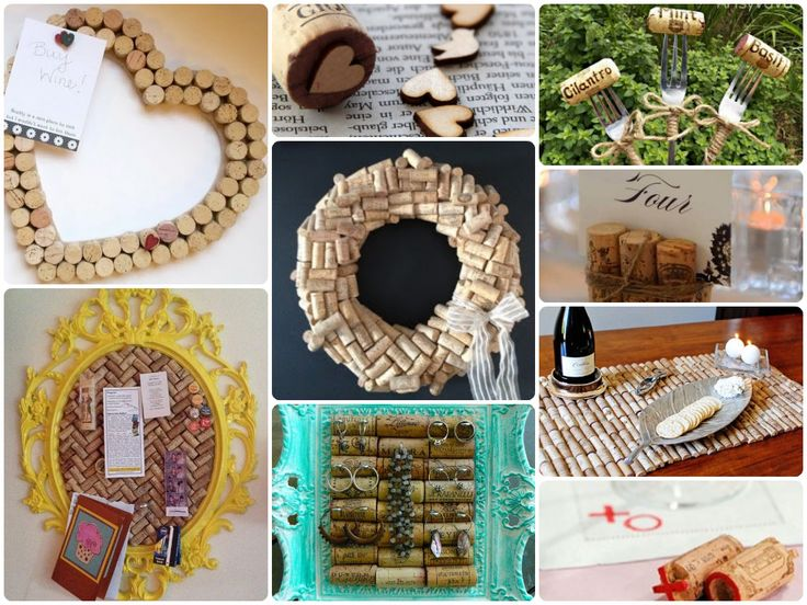 Wine Cork Crafts - Roundup of our Pinterest favorites!