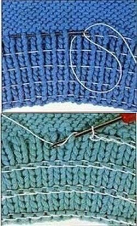 ways to add elastic to knit cuffs