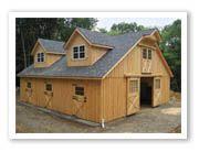 Prefab barn with loft and dormers - 34x36http://www.horizonstructures.com/barn-rule2-prefab-modular-horse-barns.asp