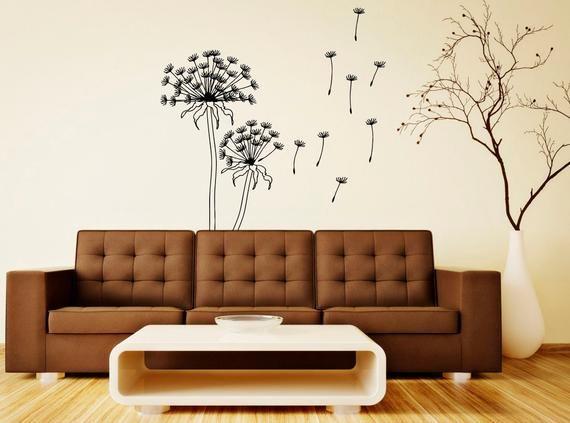 Best Dandelion Wall Decal Wall Vinyl Sticker Beautiful Flower 640 x 480