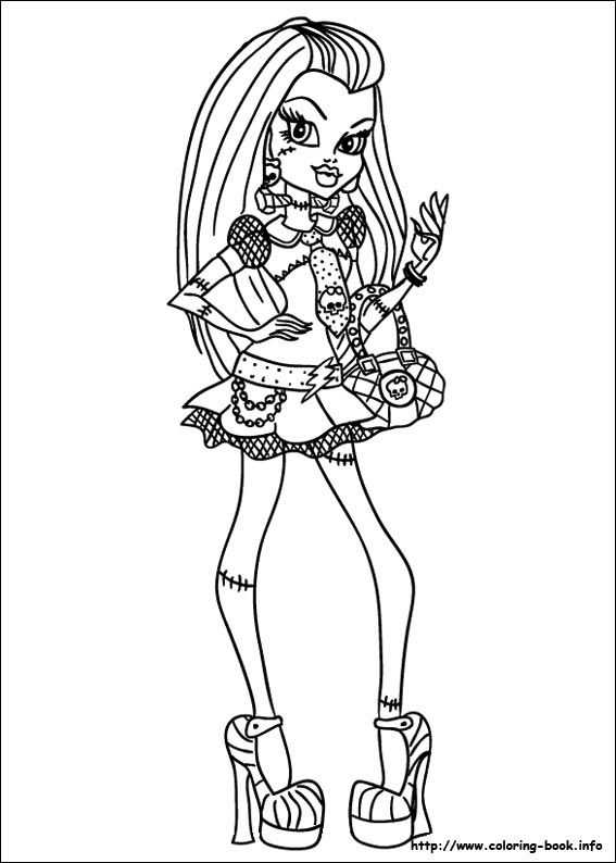 75 best Monster High images on Pinterest   Adult coloring, Coloring ...
