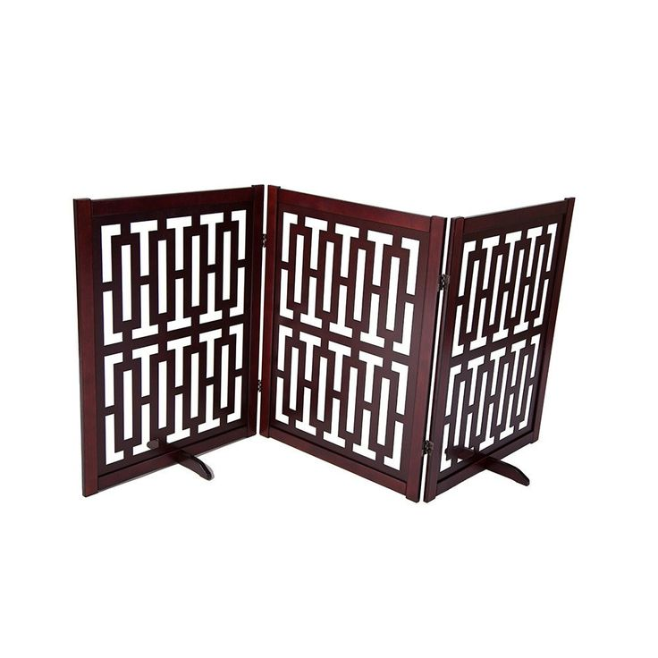 """CONTEMPORARY DESIGNER DOG GATE 35""""  Free shipping and tax included on all designer dog gates. Add style to your home with our luxury pet gates.  Perfect for puppies too! Our indoor and outdoor dog gates will be a great addition to your home.  #dog #doggate #talldoggate #petgate #puppygate #designerpetfurniture"""