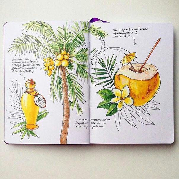 Идеи для личного дневника, лд, скетчбука, артбука
