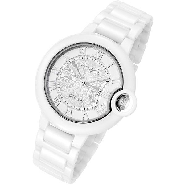 Rougois Cloud Series Silver Stratus Large Face Watch (34.080 HUF) ❤ liked on Polyvore featuring jewelry, watches, silver jewellery, silver wrist watch, silver jewelry, white watches and white jewelry