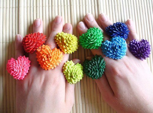 Heart Duct Tape Rings - super cute idea!