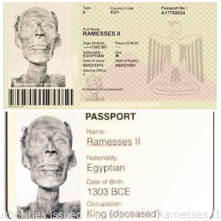 In 1974 The Egyptian Authorities Issued A Passport To Ramesses Ii