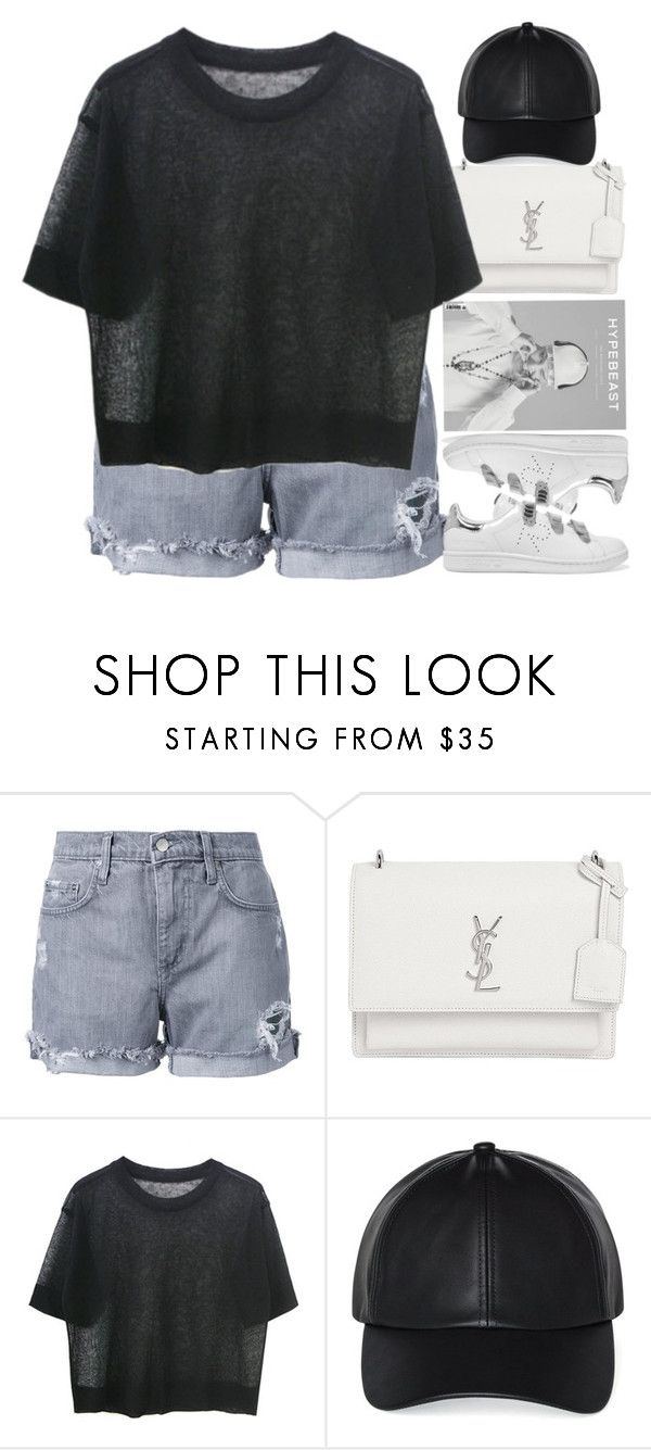"""27"" by ilaria-1999 on Polyvore featuring moda, Nobody Denim, Yves Saint Laurent, Wilfred e adidas Originals"