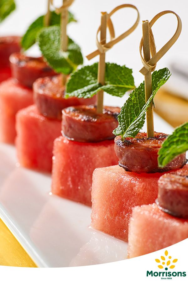 In the mood for celebration? Try our Gluten Free Chorizo and watermelon canapés recipe from our Emotion Cookbook
