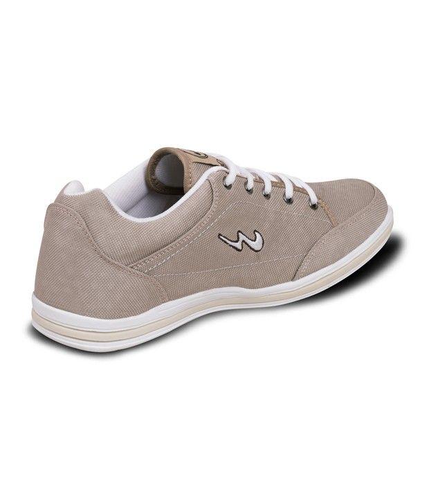 Campus Beige Mesh/textile Casual Shoes For Men