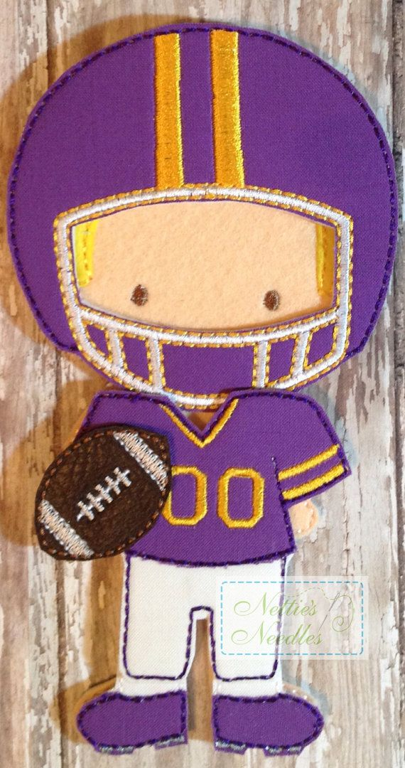 The QB Felt Doll Football Outfit by NettiesNeedlesToo on Etsy, $8.00