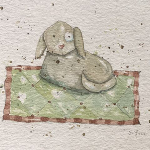 Ein Hündchen farblich abgestimmt auf den gestrigen Hase Klecks    #Hund#Dog#watercolors#Aquarell#cuteillustration #cute #illustration#illustrationart#artist#art#artoninstagram #watercolorart#watercolorartist#aquarellmalerei #forkids