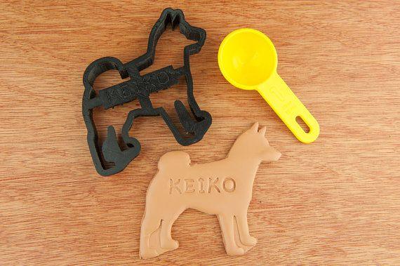 Shiba Inu Dog Cookie Cutter  Dog Custom Treat by NameThatCookie