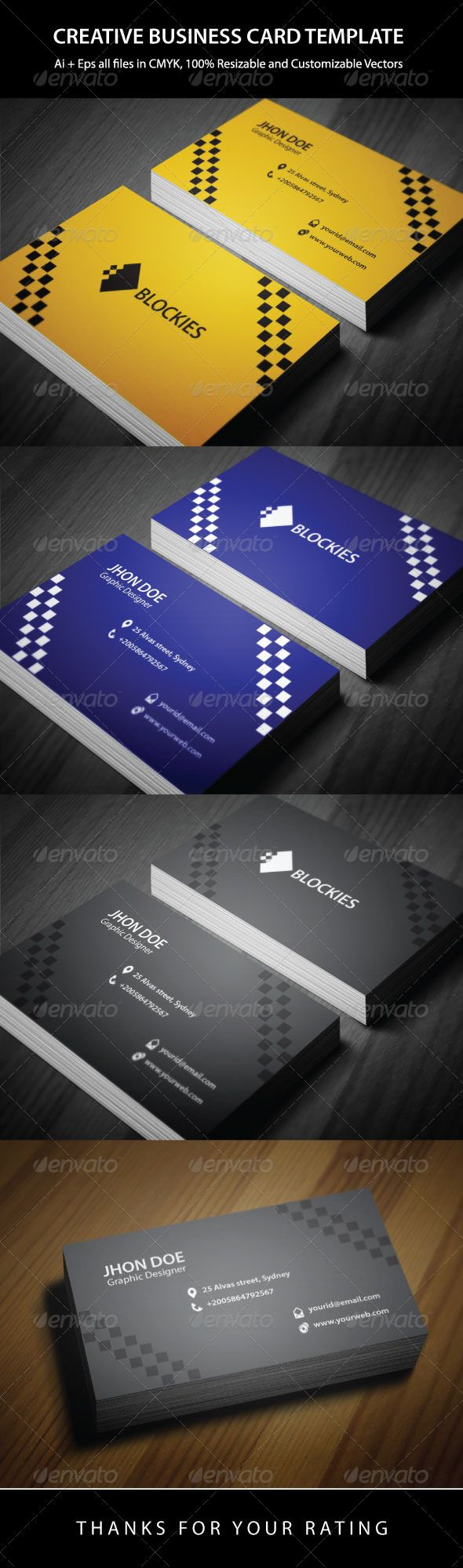 12 best brochures flyers images on pinterest corporate identity an excellent business card template which is suitable for any colourmoves