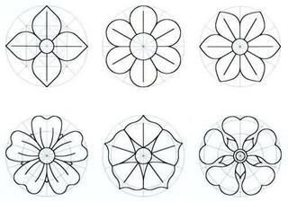 Moldes de Flores - distintos tipos de flores: Craft, Felt, Flower Template, Molds, Flowers, Crafts, Flower