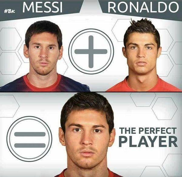 Połączenie dwóch gladiatorów piłki nożnej • Lionel Messi plus Cristiano Ronaldo, czyli idealny piłkarz • Wejdź i zobacz więcej >> #messi #lionelmessi #ronaldo #cristianoronaldo #football #soccer #sports #pilkanozna