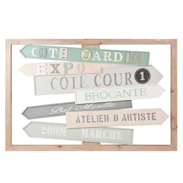 Tableau en bois 60 x 92 cm CÔTÉ COUR