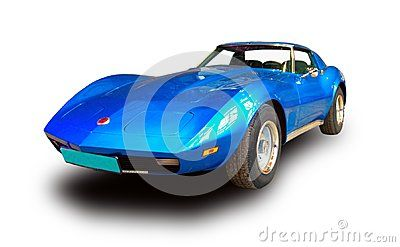 American Muscle Car Isolated On White Background Dreamstime Cars