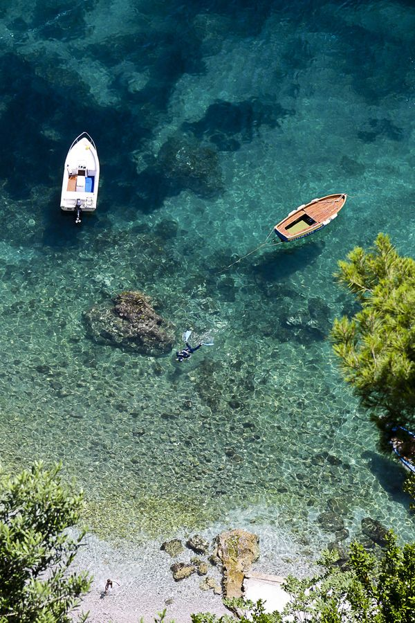 """Amalfi Coast, Italy • """"Snorkeling in Amafi"""" by Mike Perkins on http://500px.com/photo/1141418"""
