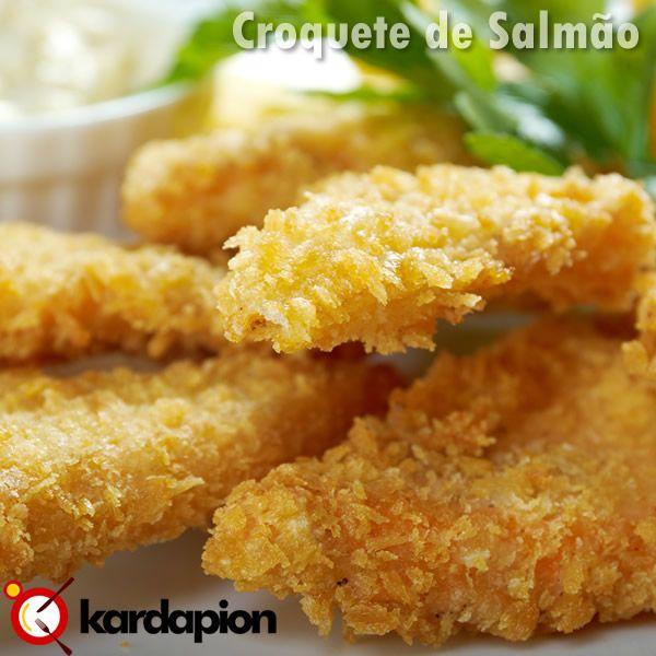 De entrada croquete de salmão Acesse o link e veja onde comer www.kardapion.com/comer-croquete-de-salmao  #comer #croqueteDeSalmao