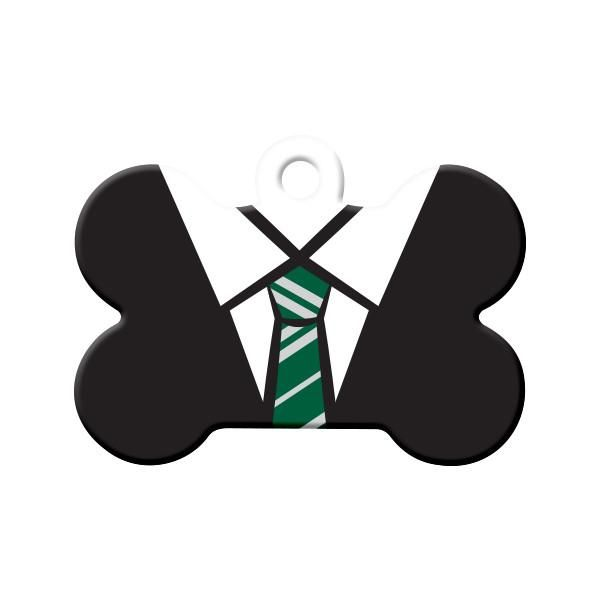 Slytherin Uniform (Harry Potter) Dog Tag - Is your pet attending Hogwarts? Did the Sorting Hat sort your pet into Slytherin? Wear these school colors with pride!