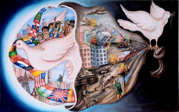Grand Prize winner of Lions International Peace Poster contest for children 2011.