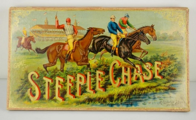VINTAGE STEEPLE CHASE GAME by McLoughlin Bros, New