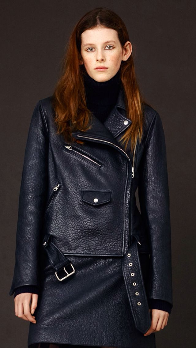 McQ FW15. Stunning, heavy leather jacket.