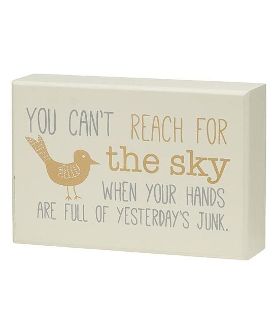 Reach for the Sky Box Sign