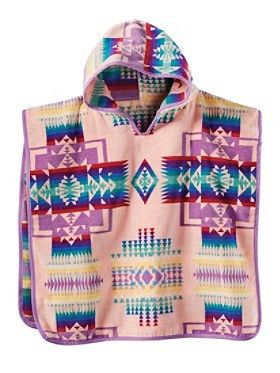 Pendleton Chief Joseph Hooded Kids' Towel- Pink