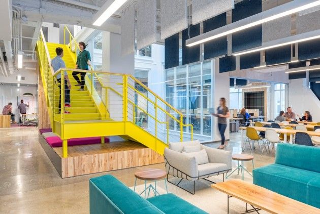 This brightly-hued office actually belongs to Capital One. Yes, the credit cards. Yes, what's in your wallet?