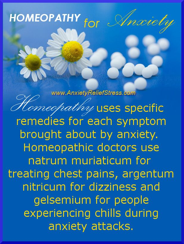 Homeopathic Remedies For Anxiety - Infographic