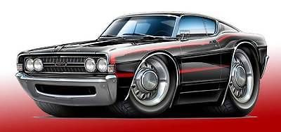 1968 Ford Torino GT Classic Muscle Car Art Print NEW