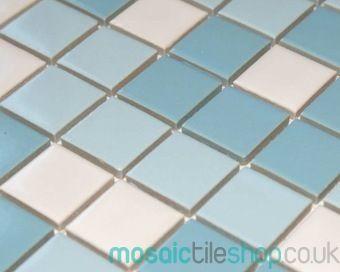 Ceramic Glazed Ocean Blend Mosaic Tiles