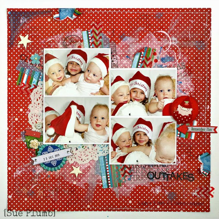"Wild About Scrap Design Team: ""Christmas Outtakes"" Layout"