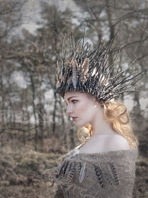 Headdress inspiration for The Spirit of Winter, Pole Dance theater Dec 19th 2014 @ MyBar