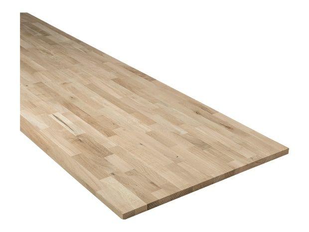 Exclusivholz Massivholzplatte Eiche (400 cm x 80 cm x 2,6 cm) Tisch: 2,10m  Media Lowboard: 1,90m/2 = 3,80m bei 40er Tiefe 179€ für die Arbeitsplatte. Sie muss dann aber noch weiß geölt werden