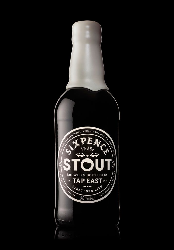 Sixpence Stout - TheDieline-