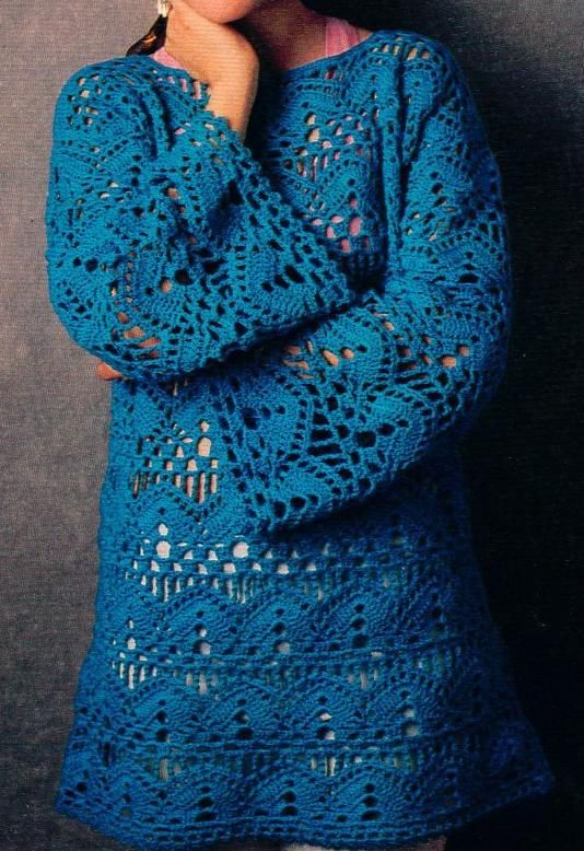 Crochet Openwork Tunic: free pattern ... Free? Wow ... great. I just wished I was more talented ...