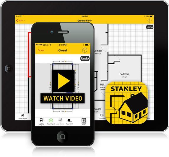 Home Floor Plan App: The STANLEY Floor Plan App On A Smartphone And Tablet