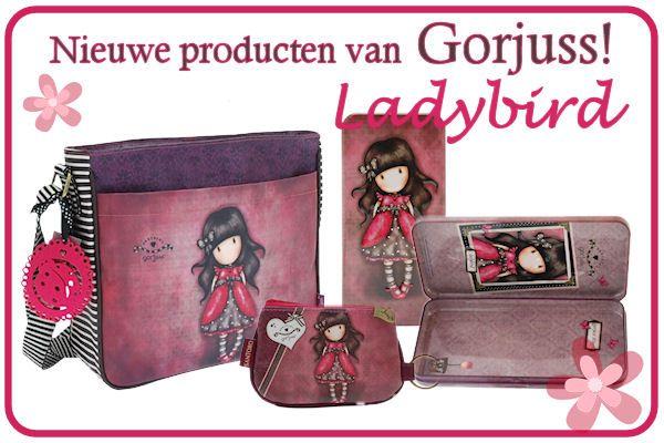 Nieuw van Gorjuss, Ladybird ! Tassen, pennenblik, en kinderportemonnee.