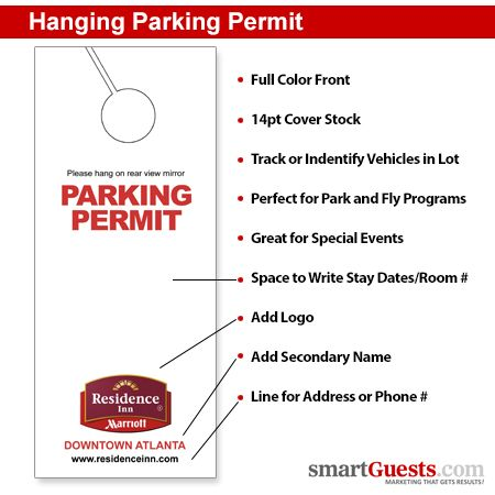 104 best products images on pinterest for Hanging parking permit template free