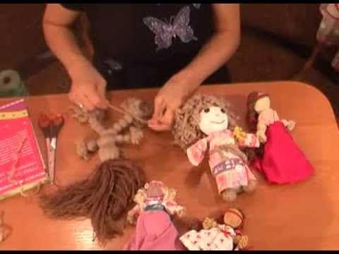 ▶ Быстро делаем куклу мотанку своими руками. Кукла мотанка - YouTube