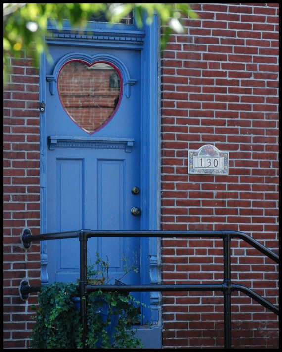 Items similar to Blue Heart Door - High Gloss Print on Premium Archival paper on Etsy & 82 best Heart Door images on Pinterest | Windows Doors and Knock ... Pezcame.Com