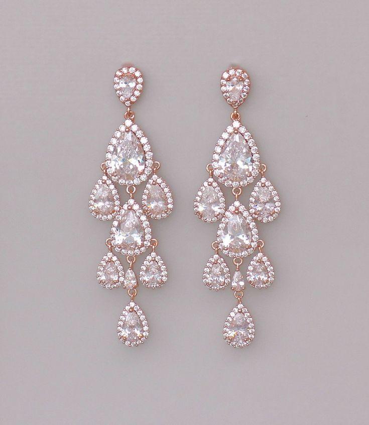 25 best ideas about Gold chandelier earrings on Pinterest