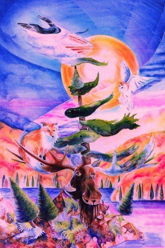 Large Northern Dreams Giclee Fine Art Print by MysticalWoodsStudio