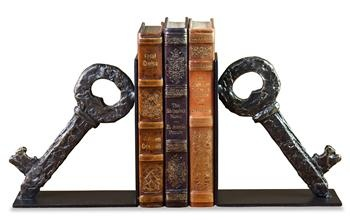 Key Forged Iron Bookends