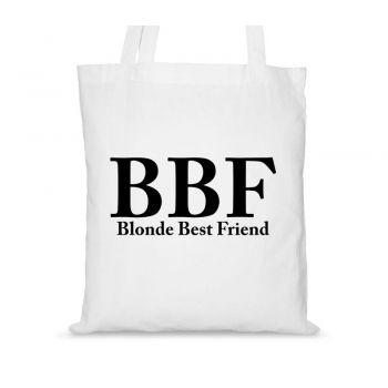 Torby bawełniane dla przyjaciółek BBF Blonde Best Friend BBF Brunette Best Friend
