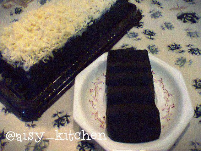 Brownies Ketan Item Resep nyontek di blognya Teh Ricke